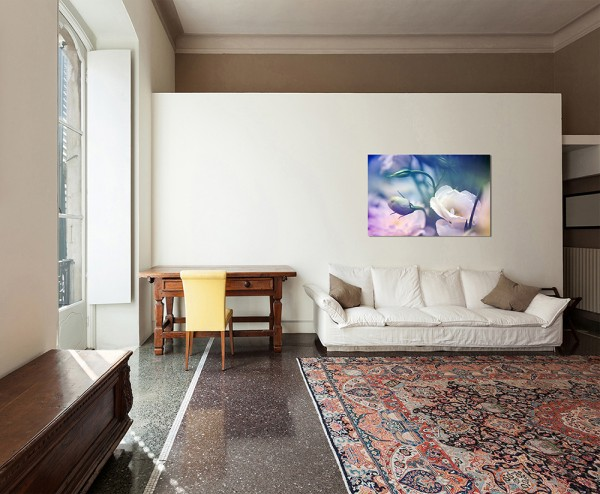120x80cm Blume Blüte Knospe farbenfroh abstrakt