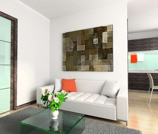 120x80cm Wandbild Kunst Hintergrund abstrakt braun grau beige