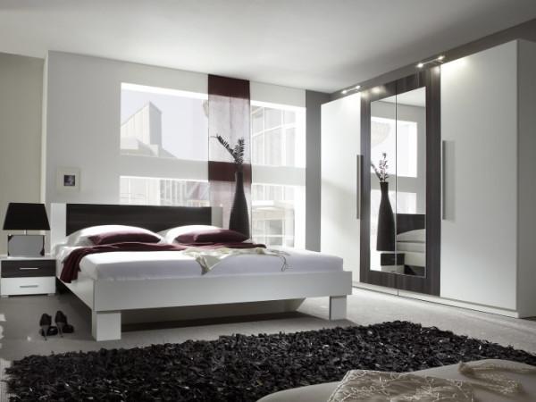Schlafzimmer Vera Weiß Kernnuss | möbel-direkt.de
