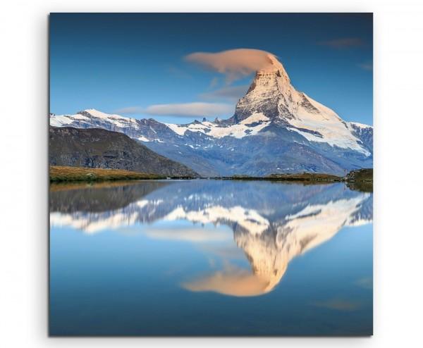 Landschaftsfotografie – Alpensee in der Schweiz auf Leinwand
