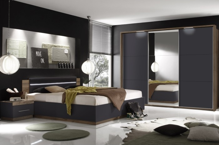 schlafzimmer dandy schwarz m bel. Black Bedroom Furniture Sets. Home Design Ideas