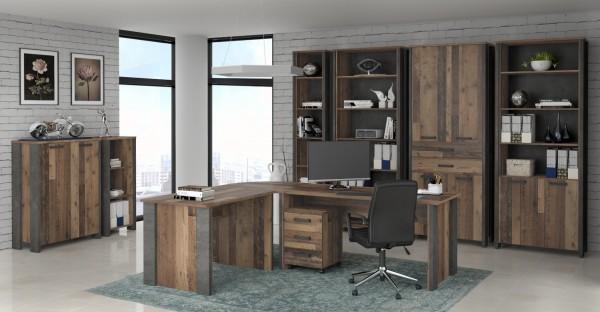 Büromöbel Clif in Old Wood Vintage 8 Teile von Forte +++ von möbel-direkt+++ schnell und günstig