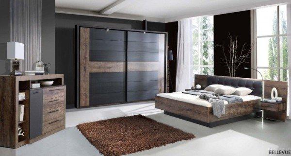 Schlafzimmer Bellevue mit Schwebetürenschrank B- Ware