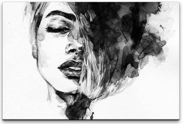 Frauen Gesicht Wandbild in verschiedenen Größen