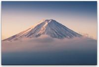 Mount Fuji in Wolken Wandbild in verschiedenen Größen