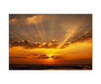 120x80cm Sonnenuntergang Meer Wolken