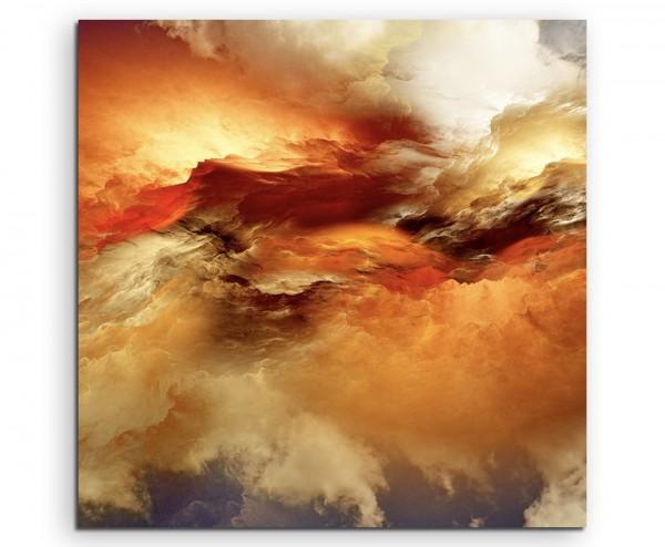 Oranger Wolkenhimmel auf Leinwand