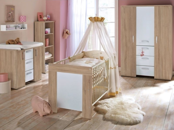 babyzimmer michi 6 teilig eiche s gerau mit gratis babymatratze m bel. Black Bedroom Furniture Sets. Home Design Ideas