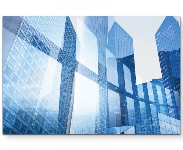 Abstraktes Bild – Businessgebäude - Leinwandbild
