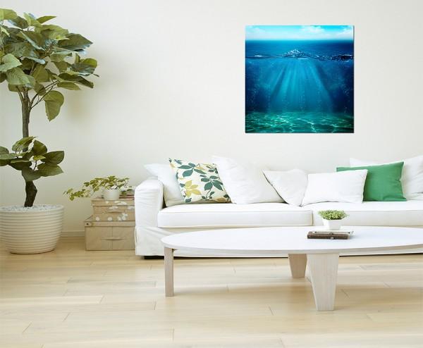 80x80cm Meer Wasser Grund Himmel Hintergrund