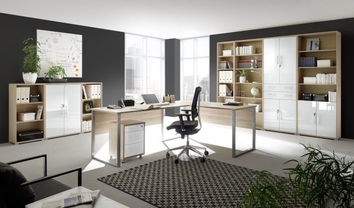 megaset b rom bel office line luxo 9 teilig sonoma wei glas m bel. Black Bedroom Furniture Sets. Home Design Ideas