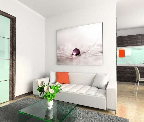 120x80cm Wandbild Pusteblume Wassertropfen Nahaufnahme abstrakt