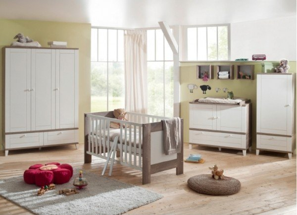 Babyzimmer Bella 3-teilig Wildeiche Trüffel