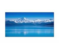 120x80cm Neuseeland See Berge Schnee