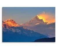 120x80cm Wandbild Himalaya Gebirge Schnee Sonnenaufgang