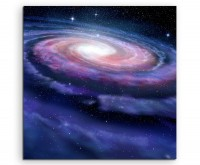Illustration – Spiralförmige Galaxie auf Leinwand