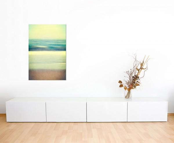 120x80cm Strand Meer Wellen Farben abstrakt