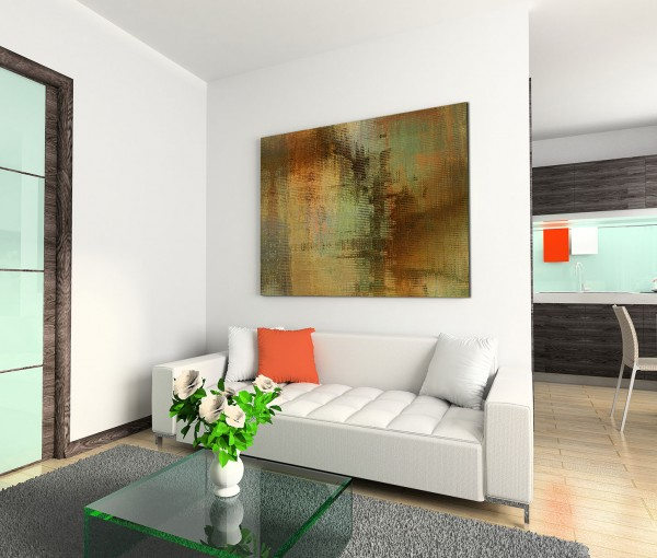 120x80cm Wandbild Hintergrund abstrakt braun grün beige