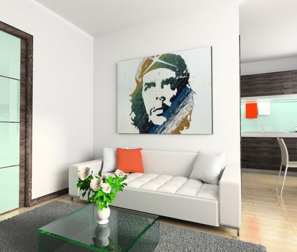 120x80cm Wandbild Che Guevara Gemälde Portrait