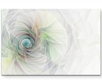 Abstraktes Bild – Spirale aus feinen bunten Linien - Leinwandbild