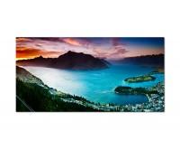 120x60cm Wakatipu Stadt See Bucht Berge