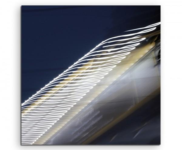 Künstlerische Fotografie – Straßenlicht bei Bewegung auf Leinwand exklusives Wandbild moderne Fotog