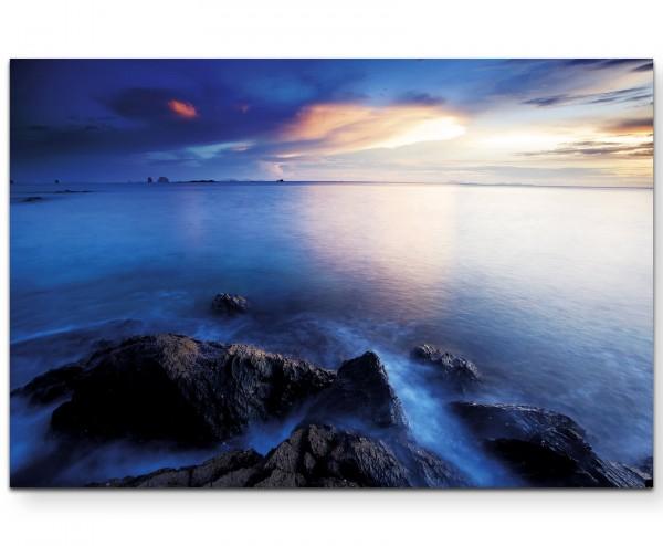Landschaftsfotografie – idyllischer Sonnenuntergang über dem Meer - Leinwandbild