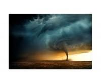 120x80cm Tornado Sturm Windhose Natur Wolken