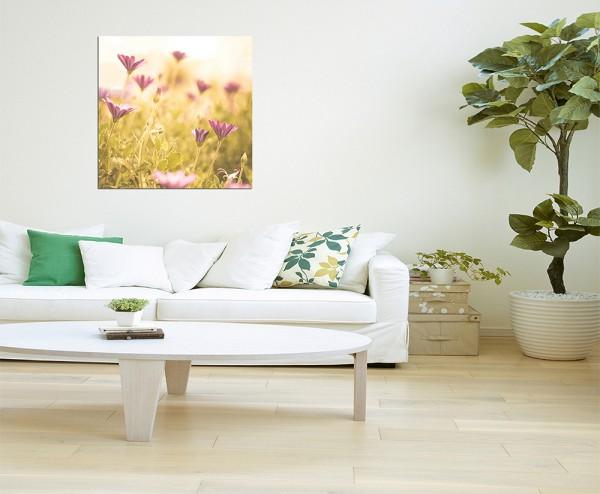 80x80cm rosa Blumen