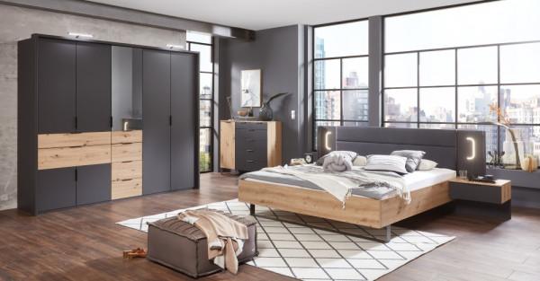 Schlafzimmer Shanghai in Artisan Eiche und Graphit 4 teilig