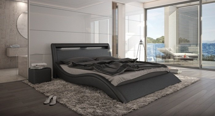 bett modani 140 x 200 cm schwarz m bel. Black Bedroom Furniture Sets. Home Design Ideas