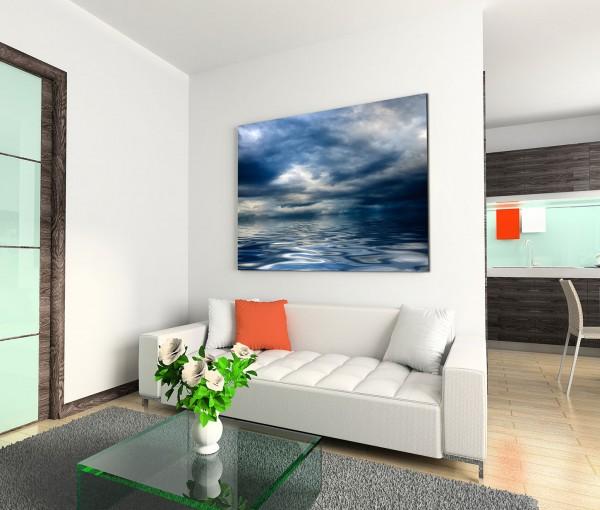120x80cm Wandbild Meer Wolken