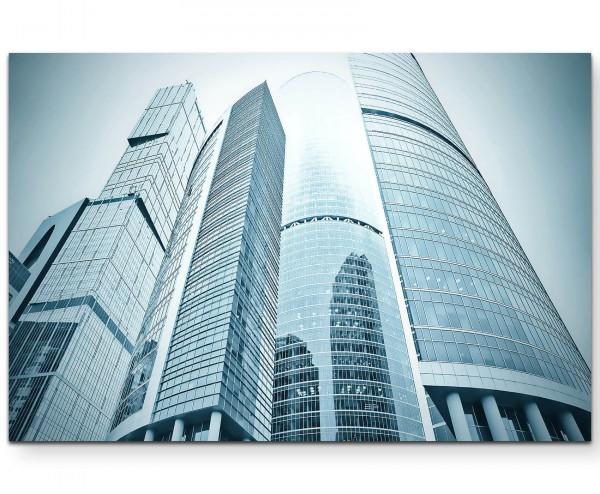 moderne Hochhäuserfront - Leinwandbild