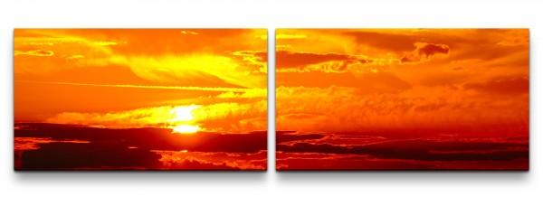 Landschaft mit Sonnenuntergang Wandbild in verschiedenen Größen