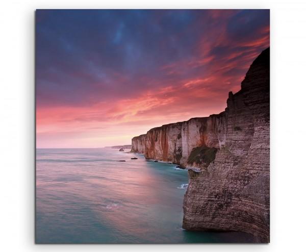 Landschaftsfotografie – Sonnenaufgang am Atlantik, Frankreich auf Leinwand