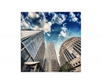 80x80cm London Finanzviertel Gebäude Himmel