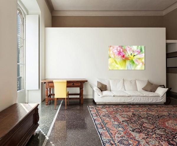 120x80cm Tulpen Farbfilter Glitzer