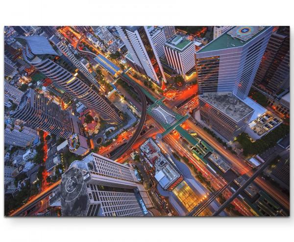 Stadtkreuzungen von oben - Leinwandbild