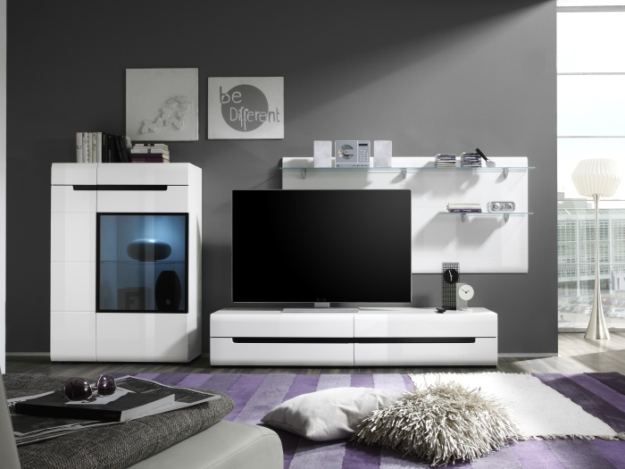 wohnwand hektor 3teilig m bel. Black Bedroom Furniture Sets. Home Design Ideas