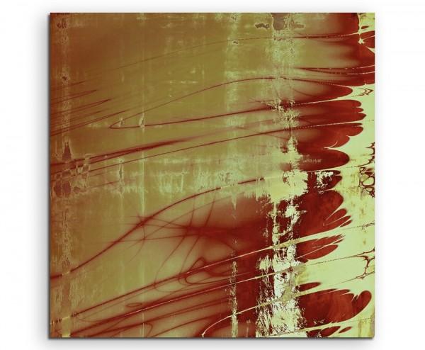Abstraktes altes Vintage Motiv rot gelb braun rot auf Leinwand