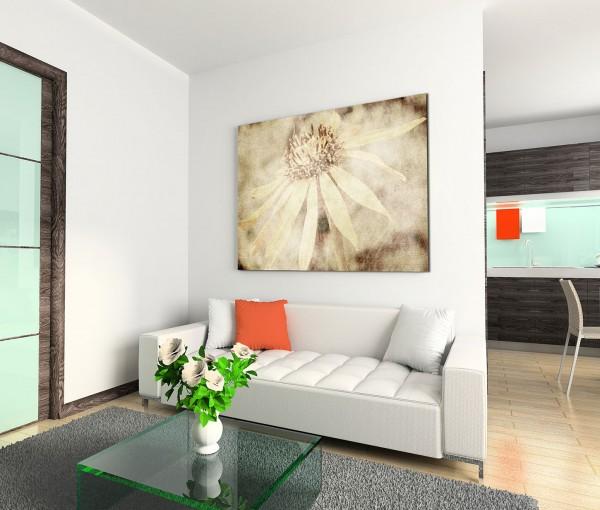 120x80cm Wandbild Blüte sepia vintage