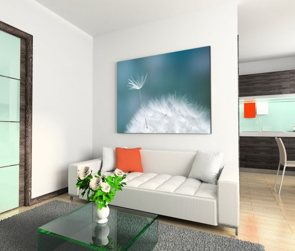 120x80cm Wandbild Pusteblume Nahaufnahme
