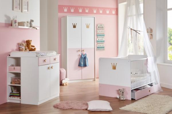 Babyzimmer Cindy in Weiß und Rosé