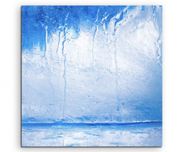 Künstlerische Fotografie – Eiswürfel auf Leinwand exklusives Wandbild moderne Fotografie für ihre Wa