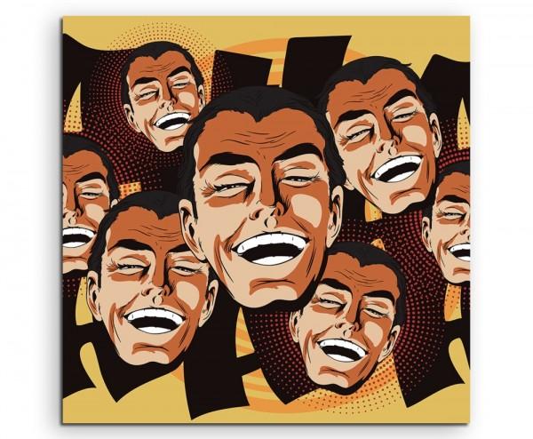 Pop Art – Lachende Vintage Männer auf Leinwand