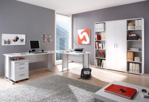 Büro Office Smart 7 teilig Weiß