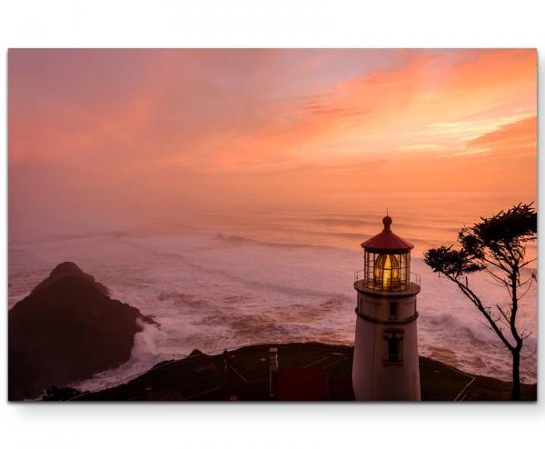 Leuchtturm an der Küste von Oregon - Leinwandbild