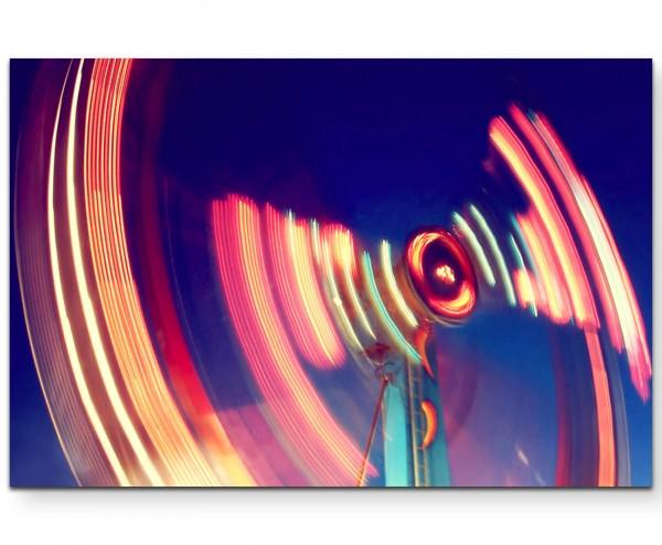 Leuchtendes Fahrgeschäft - Leinwandbild