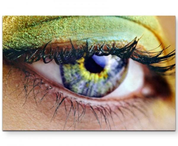 Fotografie – Auge Makroaufnahme - Leinwandbild