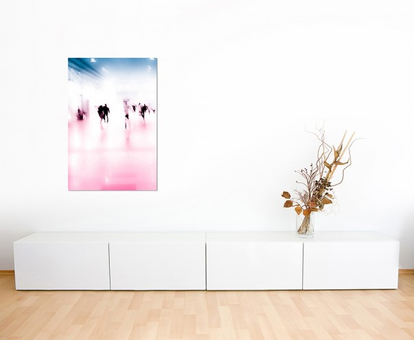 120x60cm Hintergrund verschwommen Menschen abstrakt